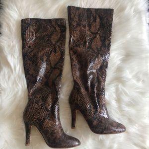 Colin Stuart Faux Snakeskin Boots